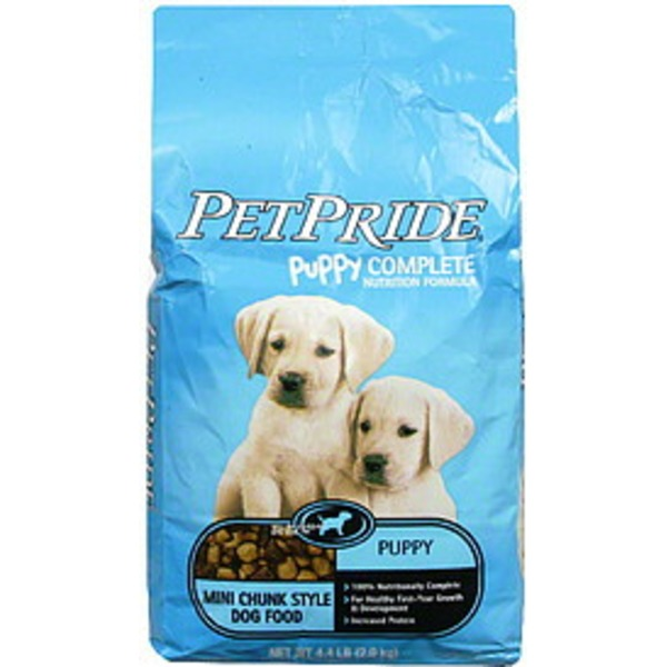 Petes Pride Puppy Complete Nutrition Formula Chunk Style Dog Food