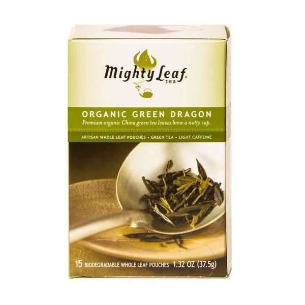 Mighty Leaf Organic Green Dragon, Artisan Whole Leaf Green Tea Pouches