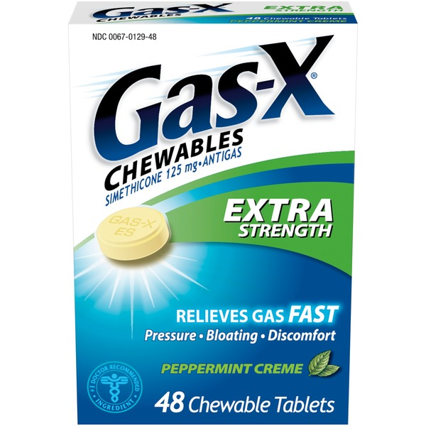 Gas-X Extra Strength Peppermint Creme Chewable Tablets Antigas