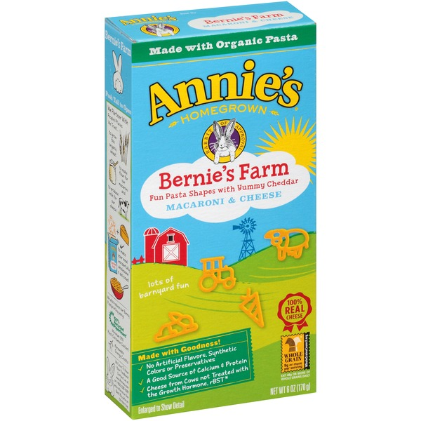 Annie's Homegrown Bernie's Farm Macaroni & Cheese Natural