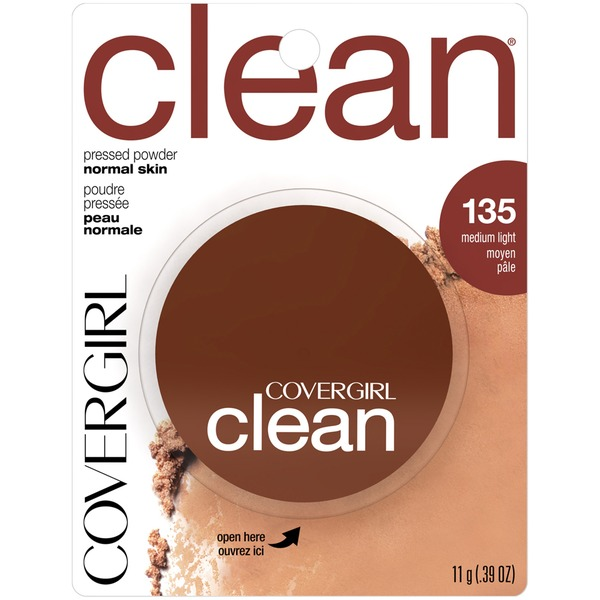 CoverGirl Clean COVERGIRL Clean Pressed Powder Foundation Medium Light .39 fl. oz. Female Cosmetics