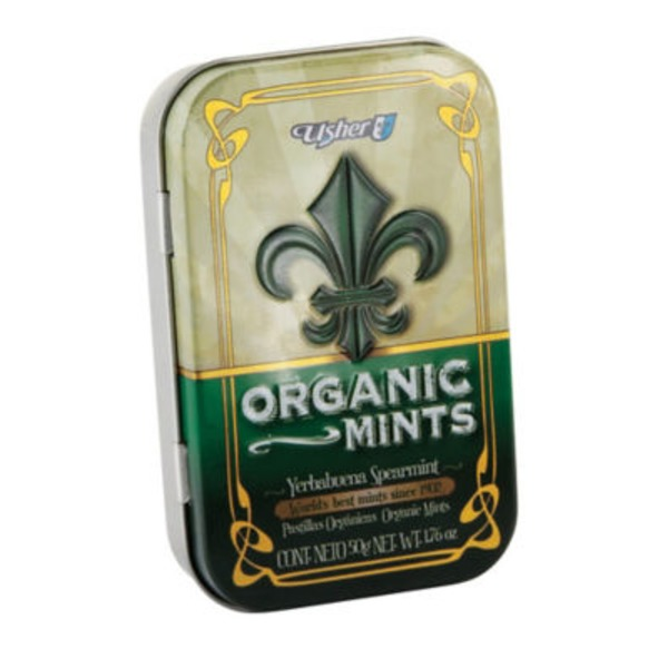 Usher Organic Spearmint Mints