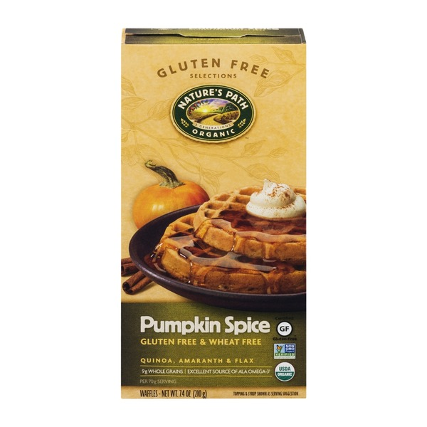 Nature's Path Organic Waffles Pumpkin Spice - 6 CT