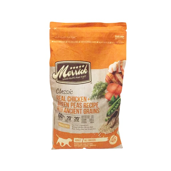 Merrick Classic Real Chicken, Green Peas Recipe with Ancient Grains Adult Dog Food