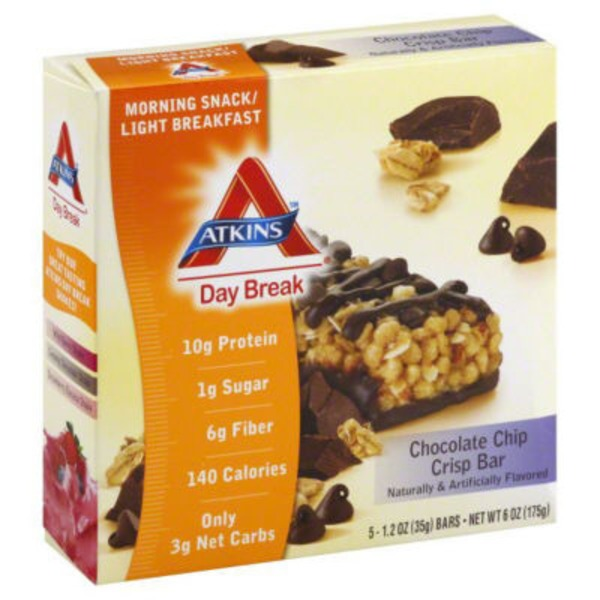 Atkins Day Break Chocolate Chip Crisp Snack Bars