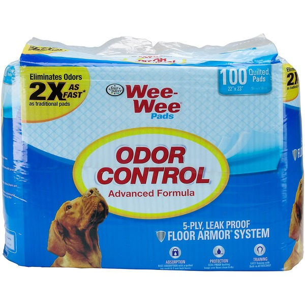 Four Paws Wee Wee Odor Control Puppy Pads Pack Of 100 Pads