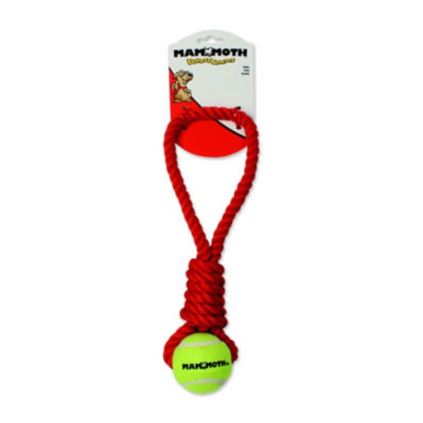 Mammoth Flossy Chews Twister Tug With Ball Size Mini
