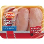 Tyson Trimmed & Ready Boneless Skinless Fresh Chicken Breast Portions, 1.1-1.7 lbs.