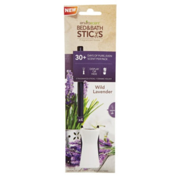 Enviroscent Bed & Bath Sticks, Wild Lavender
