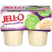 Jell O Ready To Eat Fat Free Tapioca Pudding Snacks