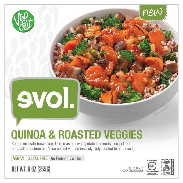 Evol Foods Quinoa and Roasted Vegetables with Kale Pesto