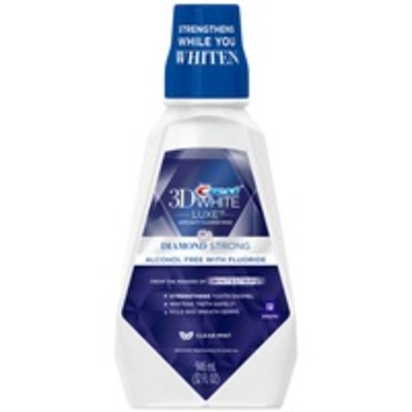 Crest 3D White Diamond Strong Clean Mint Mouthwash