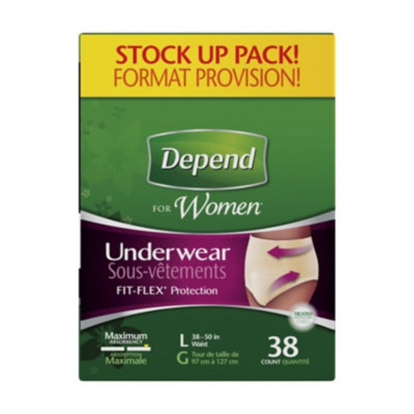 Depend For Women Maximum Absorbency L Underwear
