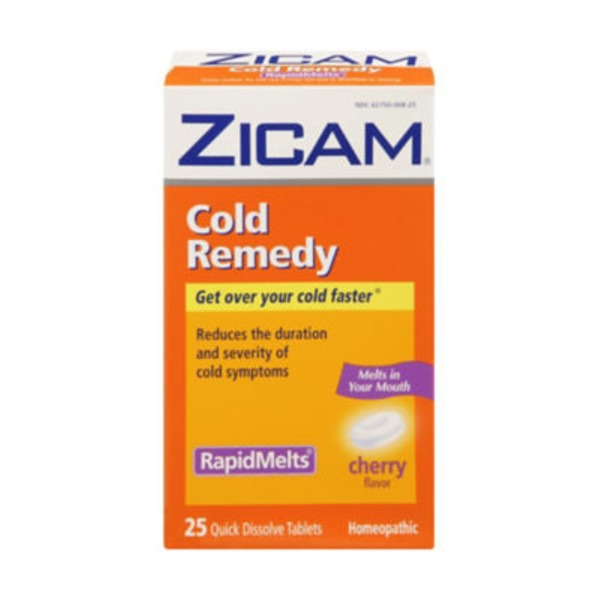 Zicam Cold Remedy Pre-Cold Medicine Rapidmelts Cherry Flavor - 25 CT