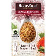 Near East Quinoa & Brown Rice Blend, Roasted Red Pepper & Basil, 4.9 oz Box