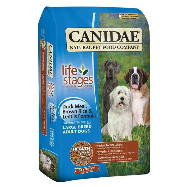 Canidae Life Stages Duck Meal Brown Rice & Lentils Large Breed Adult Dog Food