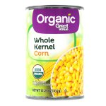 Great Value Organic Whole Kernel Corn, 15.25oz