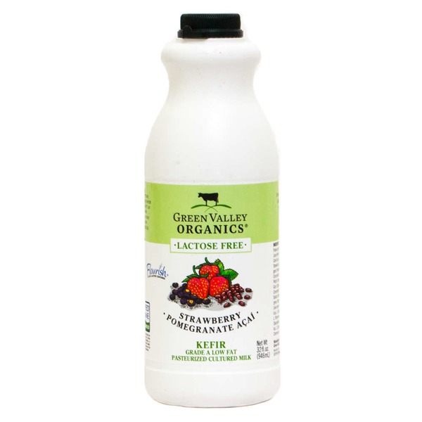Green Valley Organics Strawberry Pomegranate Acai Kefir
