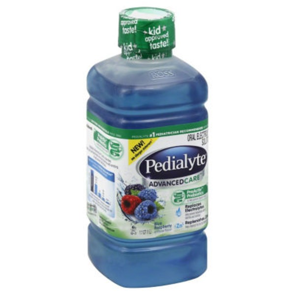 Pedialyte Advanced Care Blue Raspberry Oral Electrolyte Solution