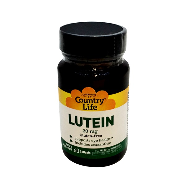 Country Life Lutein 20 mg