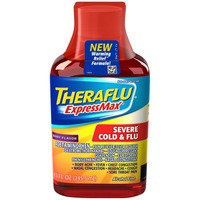 Theraflu ExpressMax Severe Warming Relief Formula Berry Flavored Syrup Cold & Flu