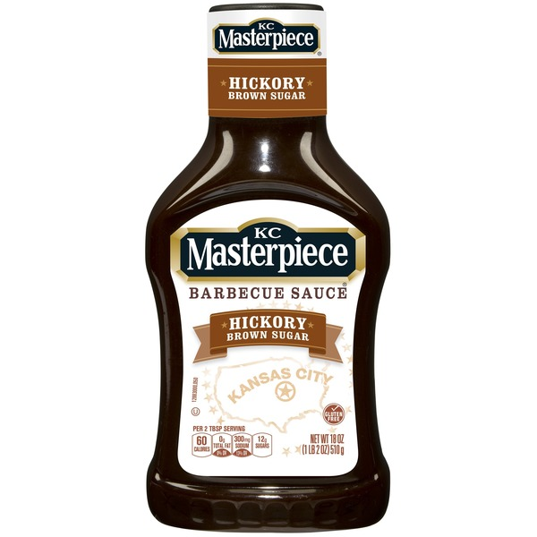 KC Masterpiece Hickory Brown Sugar Barbecue Sauce, 18 Ounces