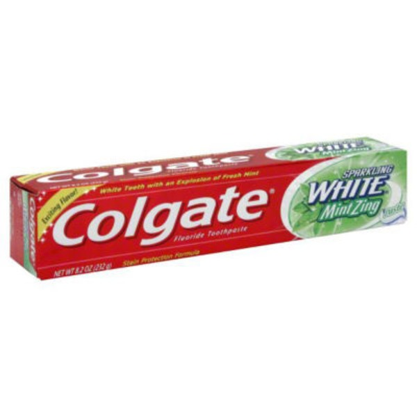 Colgate Sparkling White Mint Zing Fluoride Toothpaste