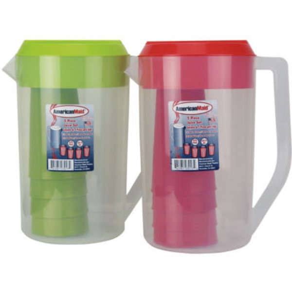 American Maid Assorted Colors Cup Set With Tumblers