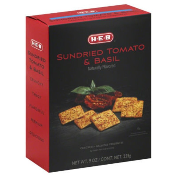 H-E-B Sundried Tomato And Basil Crackers
