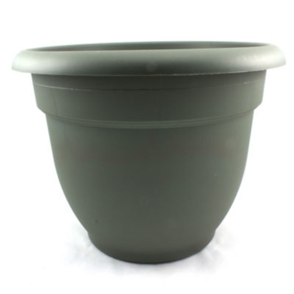 Fiskars Ariana 12 Inch Plastic Planter Thyme Green Color
