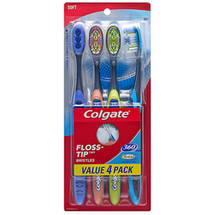 Colgate 360deg Total Advanced Floss Tip Toothbrushes Soft