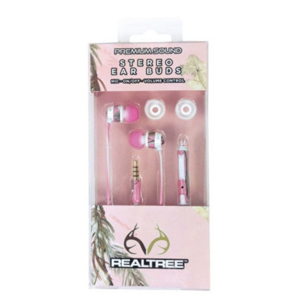 Realtree Pink Camo Ear Bud