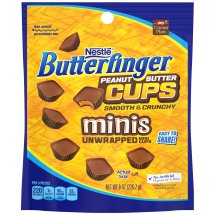 BUTTERFINGER Peanut Butter Cups Minis 8 oz Stand Up Bag