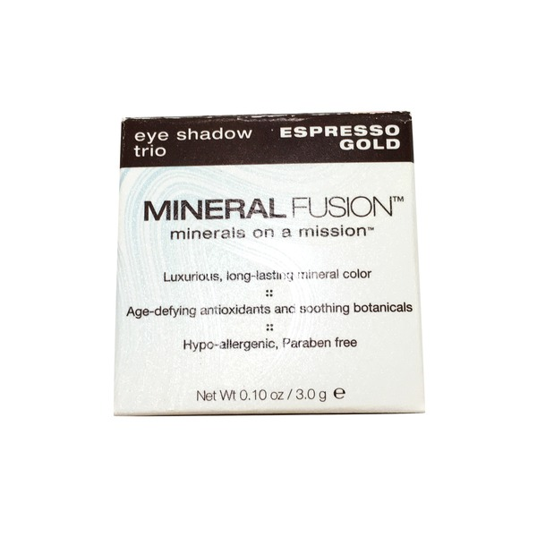 Mineral Fusion Espresso Gold Eye Shadow Trio