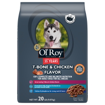 Ol' Roy T-Bone & Chicken Flavor Dry Dog Food, 20 Lb