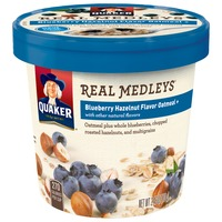 Quaker Real Medleys Blueberry Hazelnut Flavor Oatmeal