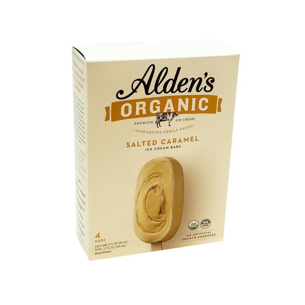 Alden's Ice Cream Organic Salted Caramel Swirl Ice Cream Bar
