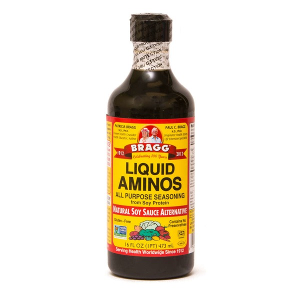 Bragg Liquid Aminos All Purpose Seasoning Natural Soy Sauce Alternative