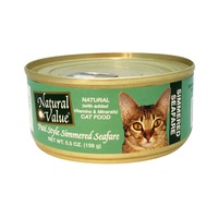 Natural Value Pate Style Simmered Seafare Cat Food