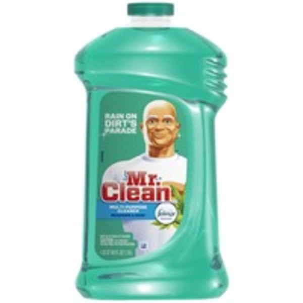 Mr. Clean Multi-Surface Cleaner Meadows & Rain with Febreze Freshness 48 oz.  Surface Care