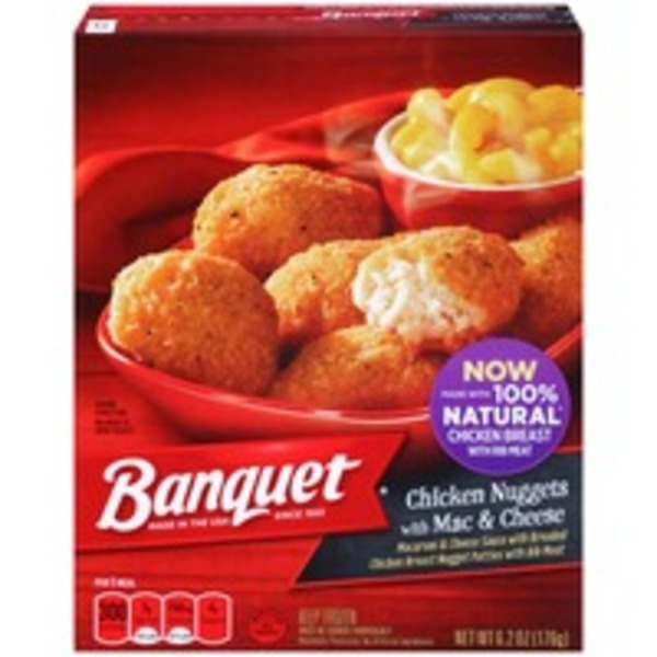 Banquet Chicken Nuggets with Mac & Cheese
