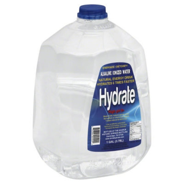 Hydrate High pH 9+ Alkaline Ionized Water
