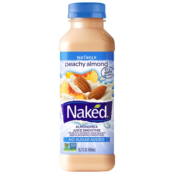Naked Juice Nutmilk Peachy Almond Almondmilk & Juice Smoothie