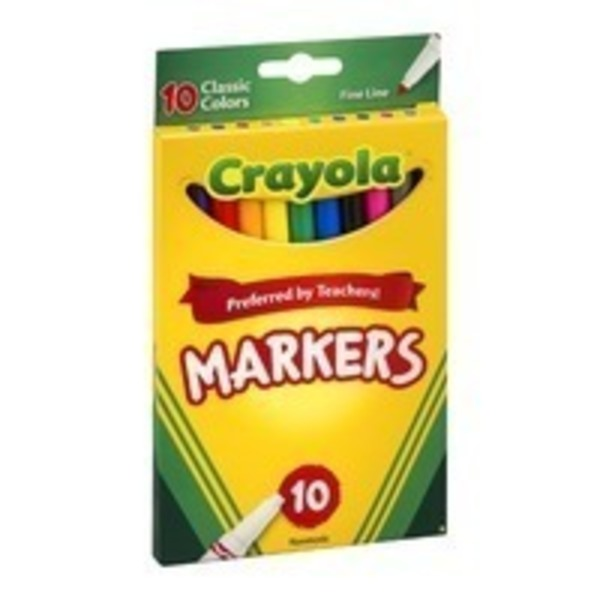 Crayola Washable Fine Line Classic Colors Markers