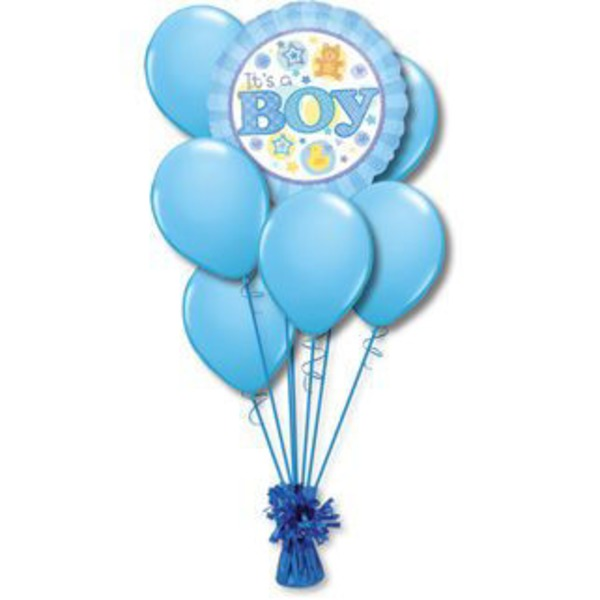 Baby Boy Small Balloon Bouquet