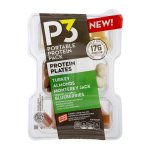 P3 Portable Protein Pack Protein Plates Turkey Almonds Monterey Jack Yogurt Covered Blueberries, 3.2 OZ