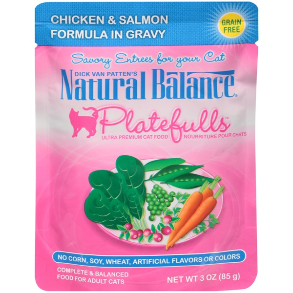 Natural Balance Dick Van Patten's Platefulls Chicken & Salmon in Gravy Cat Food
