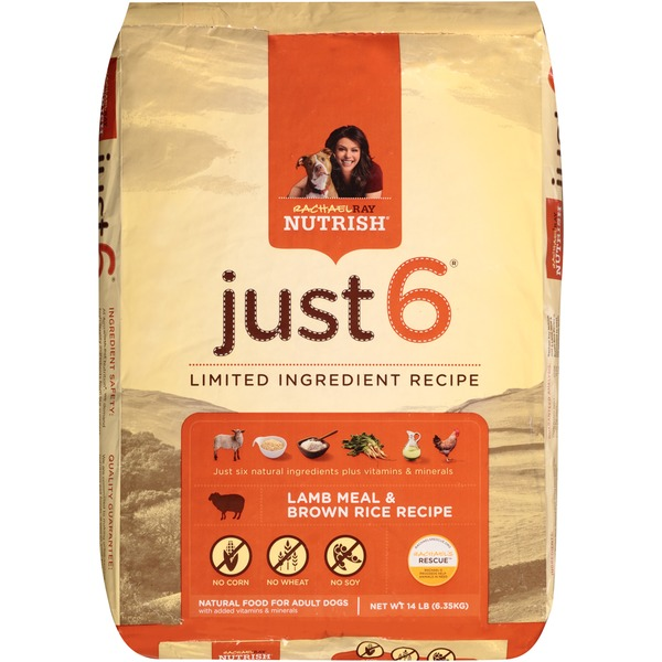 Nutrish Just 6 Lamb Meal & Brown Rice Recipe Dog Food