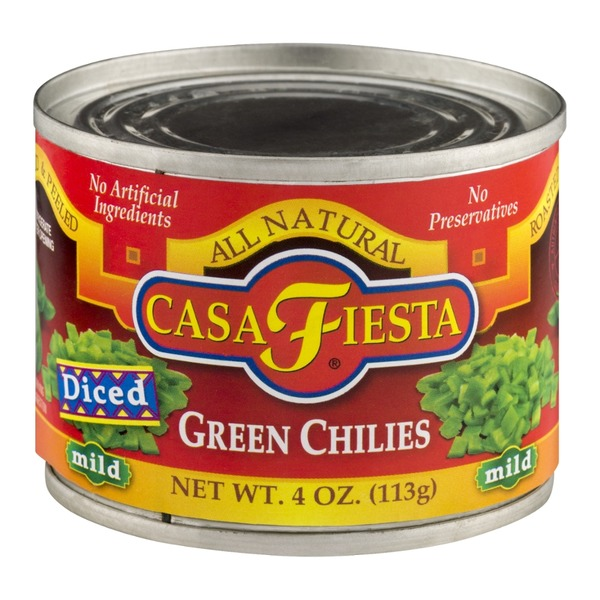 Casa Fiesta Diced Green Chilies Mild