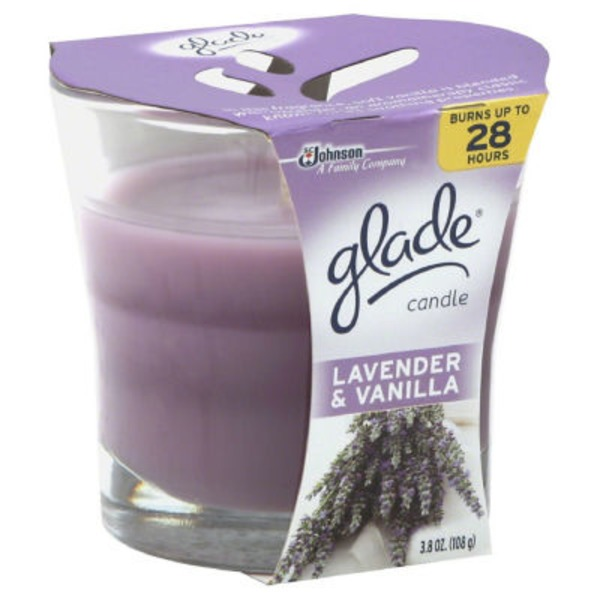 Glade Lavender and Vanilla Candle